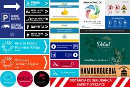 Sinalética Albufeira Algarve Portugal